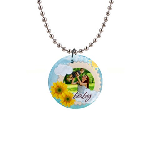 Summer By Summer Time    1  Button Necklace   8ddp3fnjmaab   Www Artscow Com Front