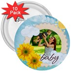 summer - 3  Button (10 pack)