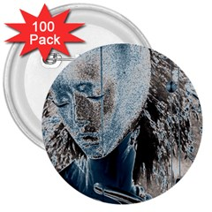 Feeling Blue 3  Button (100 Pack)