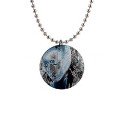 Feeling Blue Button Necklace by FunWithFibro
