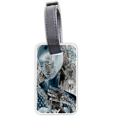 Feeling Blue Luggage Tag (Two Sides) by FunWithFibro