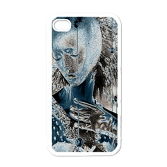 Feeling Blue Apple Iphone 4 Case (white) by FunWithFibro