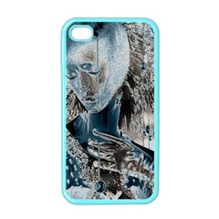 Feeling Blue Apple Iphone 4 Case (color) by FunWithFibro