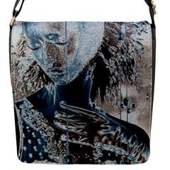 Feeling Blue Flap Closure Messenger Bag (small) by FunWithFibro