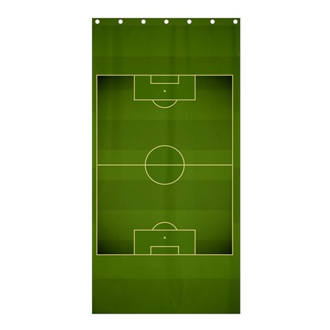 Football By X   Shower Curtain 36  X 72  (stall)   Lvjqqbm2f6vn   Www Artscow Com 33.26 x66.24 Curtain