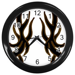 Dancing Fire Wall Clock (black) by coolcow