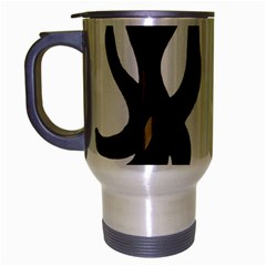 Dancing Fire Travel Mug (silver Gray) by coolcow