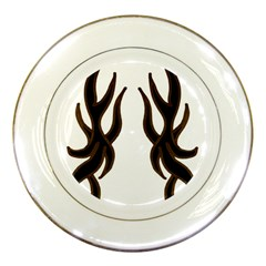 Dancing Fire Porcelain Display Plate by coolcow
