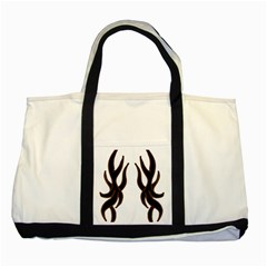 Dancing Fire Two Toned Tote Bag by coolcow