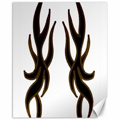 Dancing Fire Canvas 16  X 20  (unframed) by coolcow