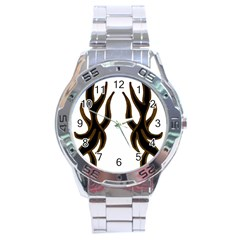 Dancing Fire Stainless Steel Watch by coolcow