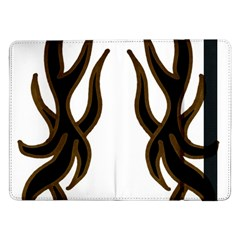 Dancing Fire Samsung Galaxy Tab Pro 12 2  Flip Case by coolcow