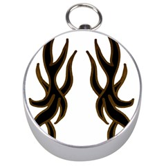 Dancing Fire Silver Compass by coolcow