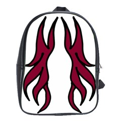 Dancing Fire 2 School Bag (XL) by coolcow