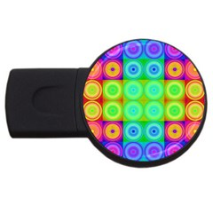 Rainbow Circles 2gb Usb Flash Drive (round) by SaraThePixelPixie