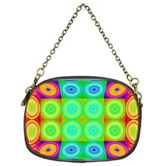 Rainbow Circles Chain Purse (one Side) by SaraThePixelPixie