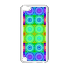 Rainbow Circles Apple Ipod Touch 5 Case (white) by SaraThePixelPixie