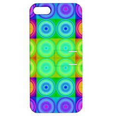 Rainbow Circles Apple Iphone 5 Hardshell Case With Stand by SaraThePixelPixie