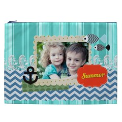 Summer By Summer Time    Cosmetic Bag (xxl)   Hnjnl1mqtkfz   Www Artscow Com Front