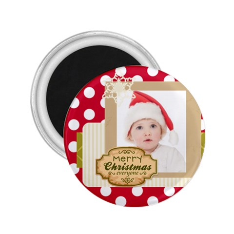 Merry Christmas By Betty   2 25  Magnet   W7ttfdy3l0k2   Www Artscow Com Front