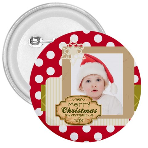 Merry Christmas By Betty   3  Button   0d8doxp30u6r   Www Artscow Com Front