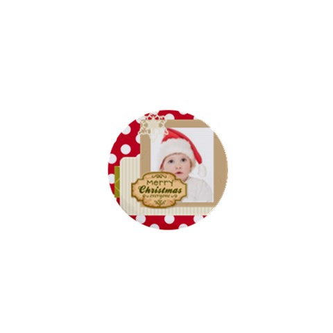 Merry Christmas By Betty   1  Mini Button   Mh5ce31gmgbp   Www Artscow Com Front