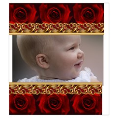 Red Rose Drawstring Pouch (medium) By Deborah   Drawstring Pouch (medium)   Olwcs2yqop0v   Www Artscow Com Front