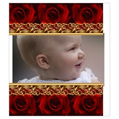 Red Rose Drawstring Pouch (medium) By Deborah   Drawstring Pouch (medium)   Olwcs2yqop0v   Www Artscow Com Back