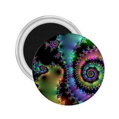 Satin Rainbow, Spiral Curves Through The Cosmos 2 25  Button Magnet by DianeClancy