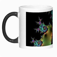 Satin Rainbow, Spiral Curves Through The Cosmos Morph Mug by DianeClancy