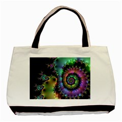 Satin Rainbow, Spiral Curves Through The Cosmos Classic Tote Bag by DianeClancy