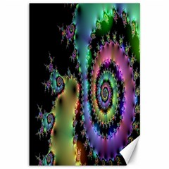 Satin Rainbow, Spiral Curves Through The Cosmos Canvas 12  X 18  (unframed) by DianeClancy