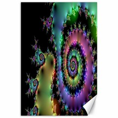 Satin Rainbow, Spiral Curves Through The Cosmos Canvas 24  X 36  (unframed) by DianeClancy