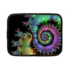 Satin Rainbow, Spiral Curves Through The Cosmos Netbook Sleeve (small) by DianeClancy