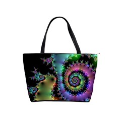 Satin Rainbow, Spiral Curves Through The Cosmos Large Shoulder Bag by DianeClancy
