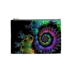 Satin Rainbow, Spiral Curves Through The Cosmos Cosmetic Bag (medium) by DianeClancy