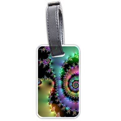 Satin Rainbow, Spiral Curves Through The Cosmos Luggage Tag (one Side) by DianeClancy