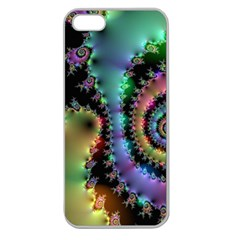 Satin Rainbow, Spiral Curves Through The Cosmos Apple Seamless Iphone 5 Case (clear) by DianeClancy