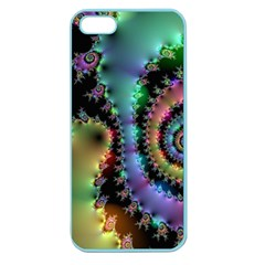 Satin Rainbow, Spiral Curves Through The Cosmos Apple Seamless Iphone 5 Case (color) by DianeClancy