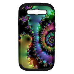 Satin Rainbow, Spiral Curves Through The Cosmos Samsung Galaxy S Iii Hardshell Case (pc+silicone)