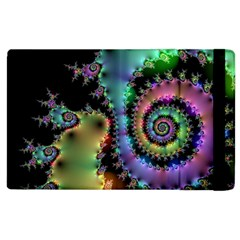 Satin Rainbow, Spiral Curves Through The Cosmos Apple Ipad 3/4 Flip Case by DianeClancy