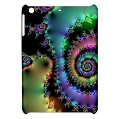 Satin Rainbow, Spiral Curves Through The Cosmos Apple Ipad Mini Hardshell Case by DianeClancy