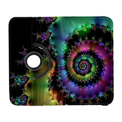 Satin Rainbow, Spiral Curves Through The Cosmos Samsung Galaxy S  Iii Flip 360 Case by DianeClancy
