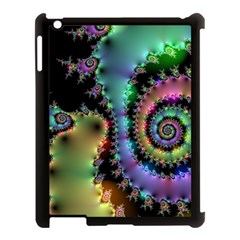Satin Rainbow, Spiral Curves Through The Cosmos Apple Ipad 3/4 Case (black) by DianeClancy