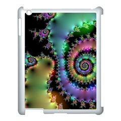 Satin Rainbow, Spiral Curves Through The Cosmos Apple Ipad 3/4 Case (white) by DianeClancy