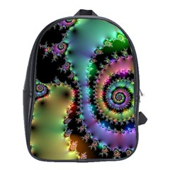 Satin Rainbow, Spiral Curves Through The Cosmos School Bag (xl) by DianeClancy