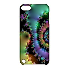 Satin Rainbow, Spiral Curves Through The Cosmos Apple Ipod Touch 5 Hardshell Case With Stand by DianeClancy