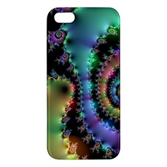 Satin Rainbow, Spiral Curves Through The Cosmos Apple Iphone 5 Premium Hardshell Case by DianeClancy