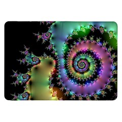 Satin Rainbow, Spiral Curves Through The Cosmos Samsung Galaxy Tab 8 9  P7300 Flip Case by DianeClancy