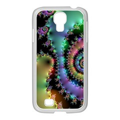 Satin Rainbow, Spiral Curves Through The Cosmos Samsung Galaxy S4 I9500/ I9505 Case (white) by DianeClancy
